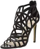 La Strada Women's Black snake leather look sandal Open Toe Sandals Black Size: