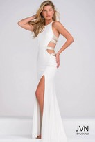 Jovani Fitted Sleeveless High Slit Prom Dress JVN37010