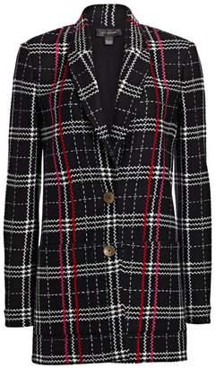 St. John Bold Plaid Longline Jacket