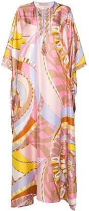 Emilio Pucci maxi Wally print kaftan dress