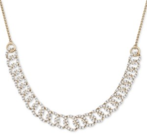 "Wrapped in Love Diamond Oval-Link 20""-24"" Statement Necklace (2 ct. t.w.) in 14k Gold, Created for Macy's"