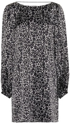 Equipment Leopard silk tunic dress