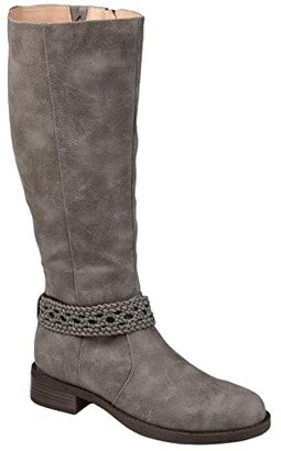 Journee Collection Paisley Boot (Stone) Women's Shoes