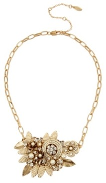 Miriam Haskell New York Flower Cluster Frontal Necklace