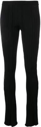 Courreges scalloped cut-out leggings