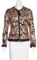 Jonathan Simkhai Metallic Collarless Jacket
