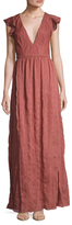 The Jetset Diaries Getaway Embroidered Maxi Dress