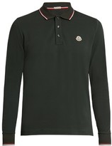 Moncler Long-sleeved cotton polo shirt