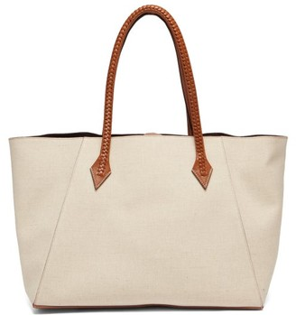 Métier Metier - Perriand Collapsible Linen-canvas Tote Bag - Beige Multi