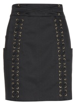 Balmain Embellished Cotton Miniskirt