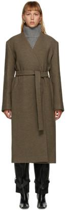 DRAE Brown Wool Belted Coat