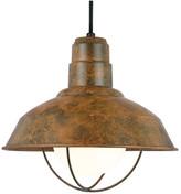 Warehouse Baselite Pendant, Iron Rust