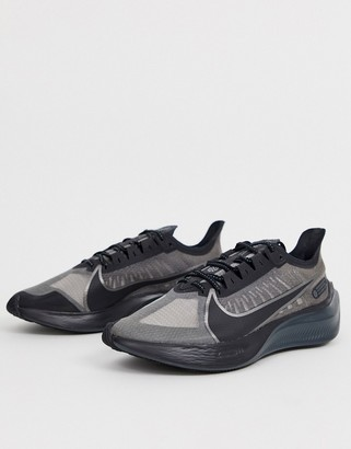 Nike Running Zoom Gravity sneakers in triple black