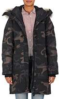 Canada Goose Women's Shelburne Fur-Trimmed Camouflage Down Parka