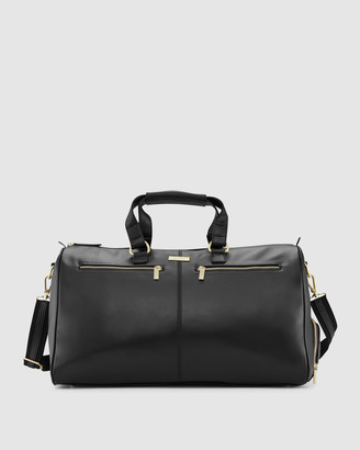Kinnon - Women's Black Leather bags - Oxley Overnight Bag - Size One Size at The Iconic