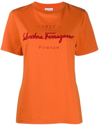 Salvatore Ferragamo logo-print T-shirt