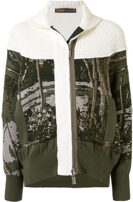 Sacai Patchwork Knit Bomber Jacket