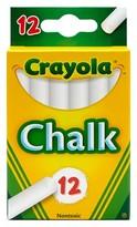 Crayola White Chalk, 12ct