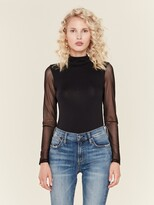 Thumbnail for your product : LnA Eves Mesh Turtleneck