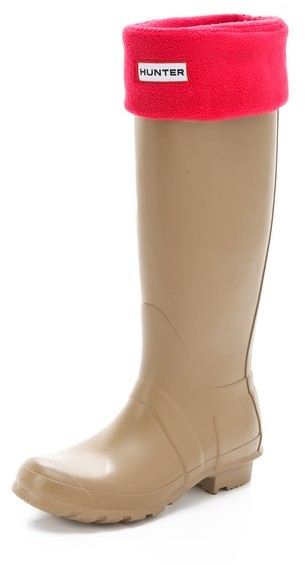 Hunter Boots Fleece Welly Socks