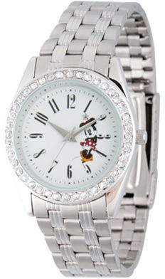 Disney Princess Disney Minnie Mouse Womens Silver Tone Bracelet Watch-Wds000383 Family