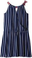 Tommy Hilfiger Wrap Drop Waist Dress Girl's Dress