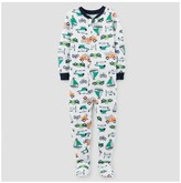 Just One You made by carter Toddler Boys' One Piece Snug Fit Cotton Footed Pajama - Just One You Made by Carter's® White/Navy