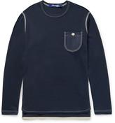 Junya Watanabe - Honeycomb-knit Cotton And Cashmere-blend T-shirt