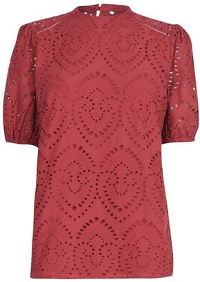 Oasis Broderie Blouse