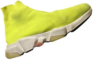 Balenciaga Speed Yellow Cloth Trainers