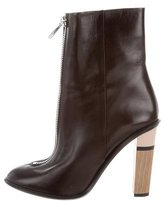 HUGO BOSS Leather Zip Ankle Boots