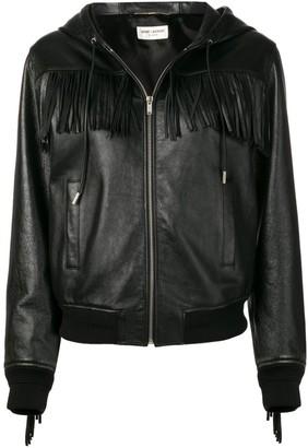 Saint Laurent Fringed Hooded Jacket