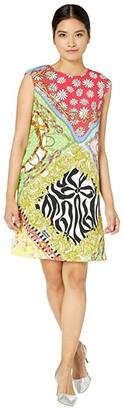 Boutique Moschino Scarf Print Shift Dress (Multi) Women's Clothing