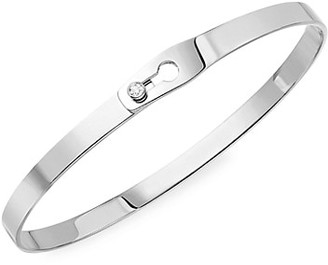 Dinh Van Serrure Ruban 18K White Gold & Diamond Bangle Bracelet