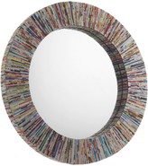 COHEN recycled magazine round wall mirror