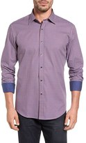 Bugatchi Men's Shaped Fit Graphic Check Sport Shirt