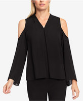 Vince Camuto Pleated Cold-Shoulder Top
