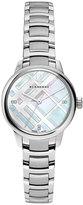 Burberry 32mm Round Stainless Steel Bracelet Watch w/Diamonds