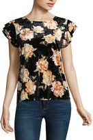 A.N.A a.n.a Sleeveless Crew Neck Floral T-Shirt-Womens Talls