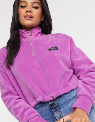 Mossimo cropped polar fleece in purple