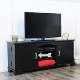 Walker Edison Black Wood 60-inch TV Stand Console
