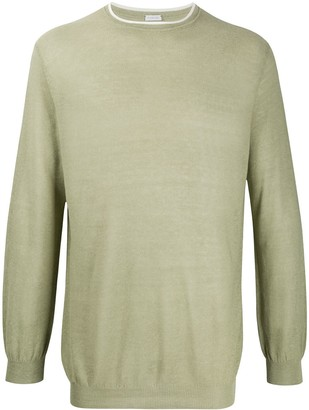 Caruso Long-Sleeve Fitted Jumper