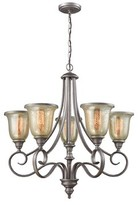 Waller 5 - Light Shaded Empire Chandelier with Crystal Accents Fleur De Lis Living