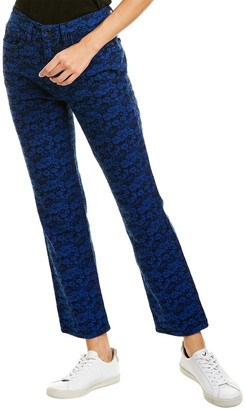 Askk Ny Blue Floral Cigarette Leg Jean
