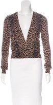 Dolce & Gabbana Angora & Wool-Blend Leopard Print Cardigan