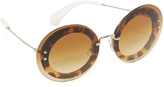 Miu Miu Round Transparent Sunglasses