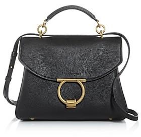 Salvatore Ferragamo Margot Small Leather Satchel