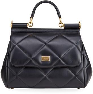 Dolce & Gabbana Miss Sicily Medium Quilted Leather Satchel Bag