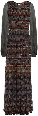 Missoni Paneled Metallic Crochet-knit Maxi Dress