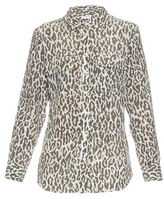 Equipment Signature cheetah-print silk shirt